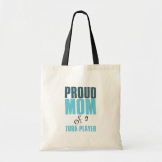 Proud Mom of a Tuba Player Canvas Bag