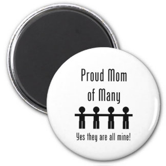 Proud Mom of Many -  4 kids 6 Cm Round Magnet