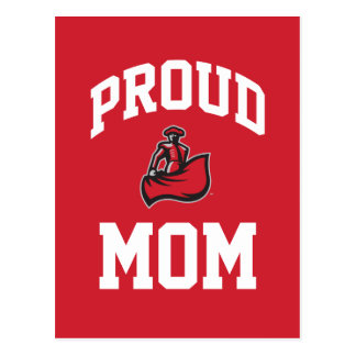 Proud Mom with Matador on Red Postcard