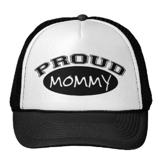 Proud Mommy (Black) Mesh Hat