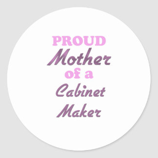 Proud Mother of a Cabin Crew Round Stickers