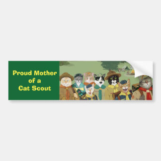 Proud Mother of a Cat Scout Bumper Sticker