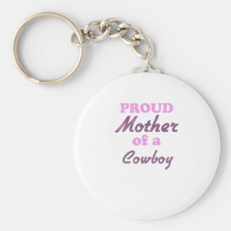 Proud Mother of a Cowboy Key Chains