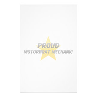 Proud Motorboat Mechanic Stationery Paper
