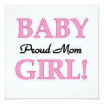 Proud Mum Baby Girl Gifts Invitations