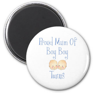 Proud Mum of Boy Twins 6 Cm Round Magnet