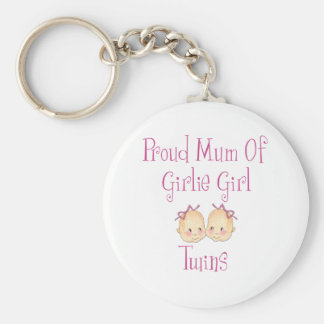 Proud Mum of Girl Twins Key Ring