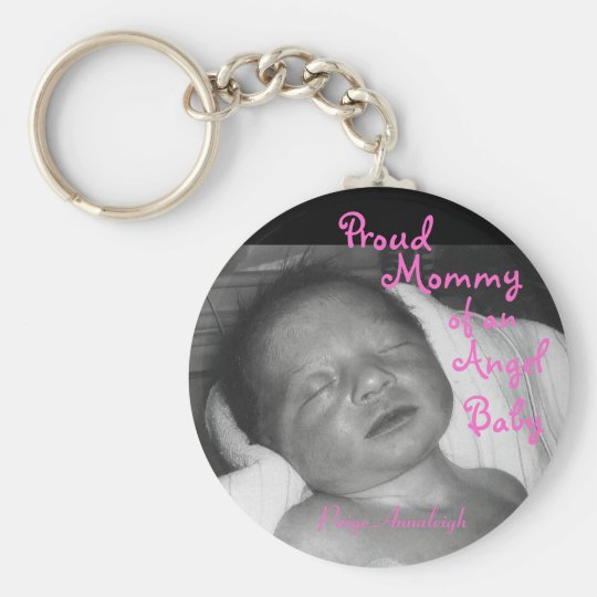 Proud Mummy of an Angel Baby Key Ring