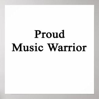 Proud Music Warrior Poster