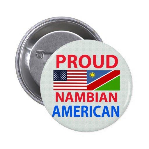 Proud Nambian American Pinback Button