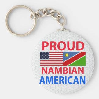 Proud Nambian American Basic Round Button Key Ring