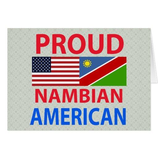 Proud Nambian American Greeting Card