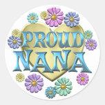 Proud Nana Round Sticker