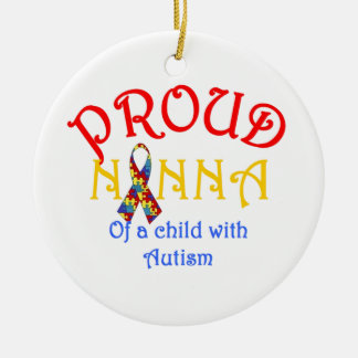 Proud Nanna of a Child with Autism Christmas Ornament