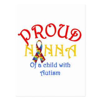Proud Nanna of a Child with Autism Postcard