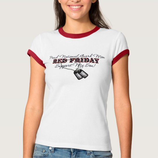 Proud National Guard Mum (Support My Son) T-Shirt