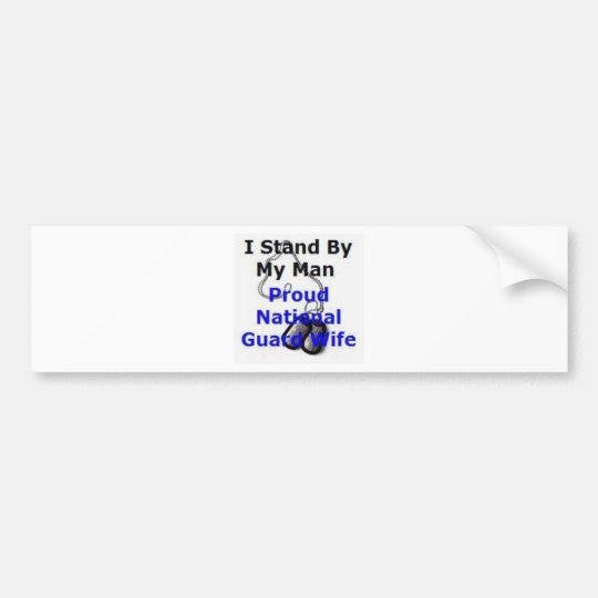 Proud National Guard Wife Bumper Sticker