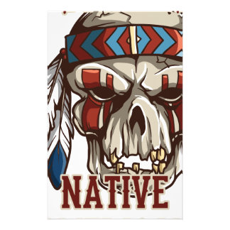 Proud Native American Stationery Design