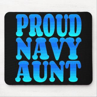Proud Navy Aunt Mouse Mat