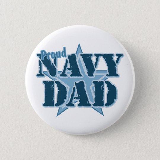 Proud Navy Dad 6 Cm Round Badge