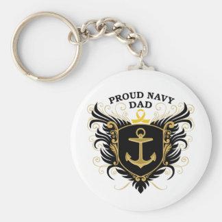 Proud Navy Dad Key Ring