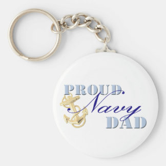 Proud Navy Dad Keychain
