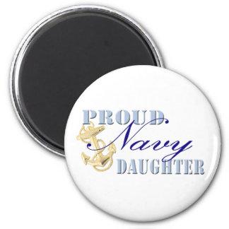Proud Navy Daughter 6 Cm Round Magnet