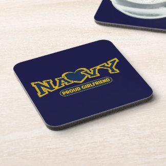 Proud Navy Girlfriend Drink Coasters