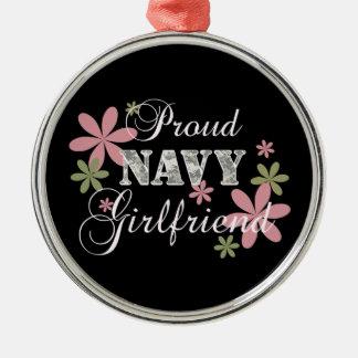 Proud Navy Girlfriend [fl c] Christmas Ornament