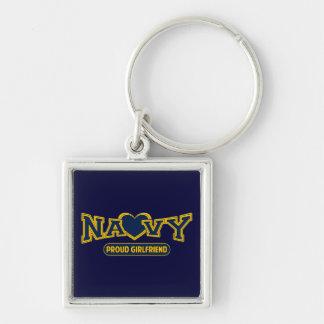 Proud Navy Girlfriend Key Chain