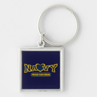 Proud Navy Girlfriend Key Ring