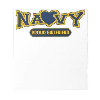 Proud Navy Girlfriend Notepad
