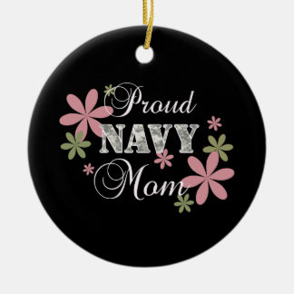 Proud Navy Mom [fl c] Christmas Ornament