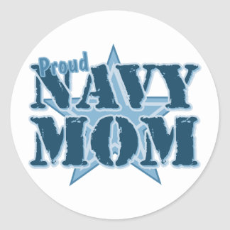 Proud Navy Mom Stickers