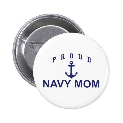 Proud Navy Mum 6 Cm Round Badge