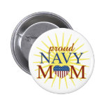 Proud Navy Mum Button