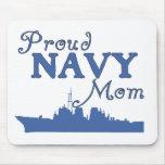 Proud Navy Mum Ship Mouse Pads