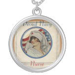 Proud Navy Nurse Necklace
