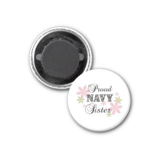 Proud Navy Sister [fl c] 3 Cm Round Magnet