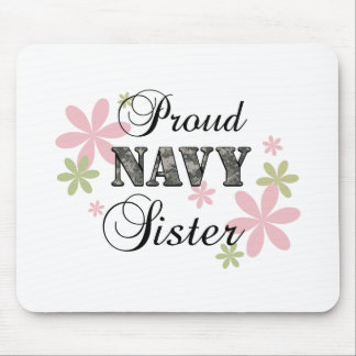 Proud Navy Sister [fl c] Mouse Pad