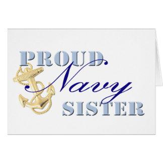 Proud Navy Sister Greeting Card