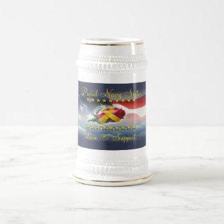 Proud Navy Sister Beer Steins