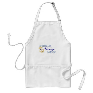 Proud Navy Son Aprons