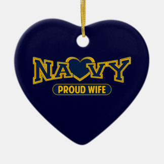 Proud Navy Wife Christmas Ornaments