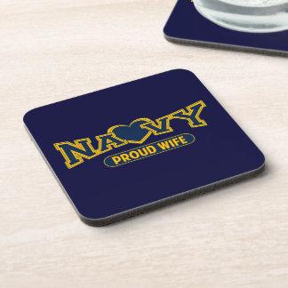 Proud Navy Wife Coaster