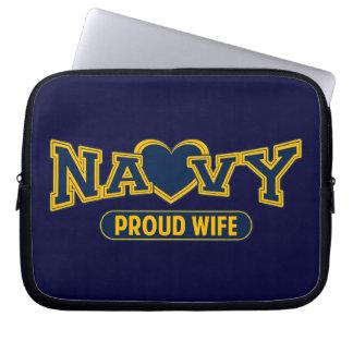 Proud Navy Wife Computer Sleeves
