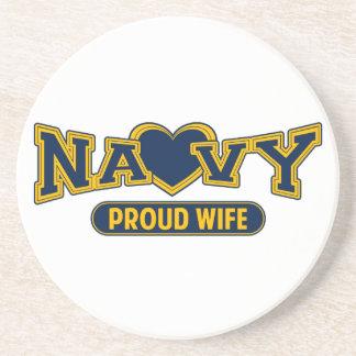 Proud Navy Wife Drink Coasters