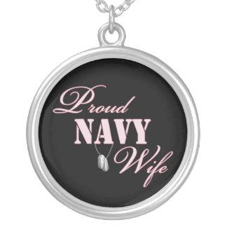 Proud Navy Wife Pendant