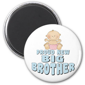Proud New Big Brother Girl 6 Cm Round Magnet