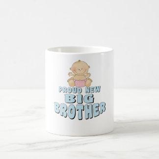 Proud New Big Brother Girl Basic White Mug